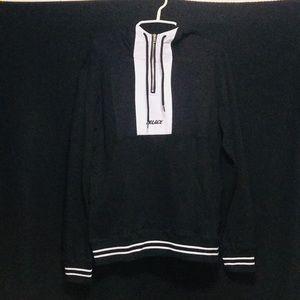 nwot black&white palace quarter zip hoodie